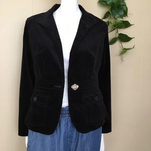 Talbots Black Velvet Jacket/Blazer